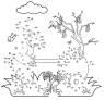 Malen nach Zahlen: Malen nach Zahlen: Osterhase zum Ausmalen