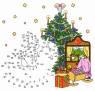 Malen nach Zahlen: Malen nach Zahlen: Schaukelpferd unterm Weihnachtsbaum zum Ausmalen