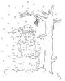 Malen nach Zahlen: Malen nach Zahlen: Schneemann zum Ausmalen