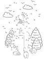 Malen nach Zahlen: Malen nach Zahlen: Windmühle zum Ausmalen