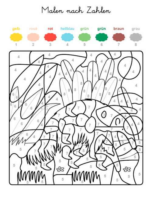 kostenlose malvorlage malen nach zahlen ameisenbär