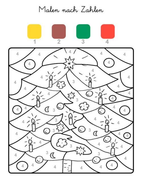 kostenlose malvorlage malen nach zahlen weihnachtsbaum ausmalen zum ausmalen. Black Bedroom Furniture Sets. Home Design Ideas
