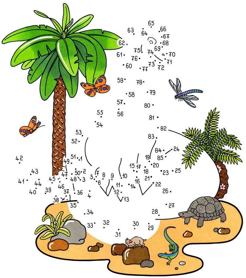 Kostenlose Malvorlage Malen Nach Zahlen Dinosaurier Zum Ausmalen