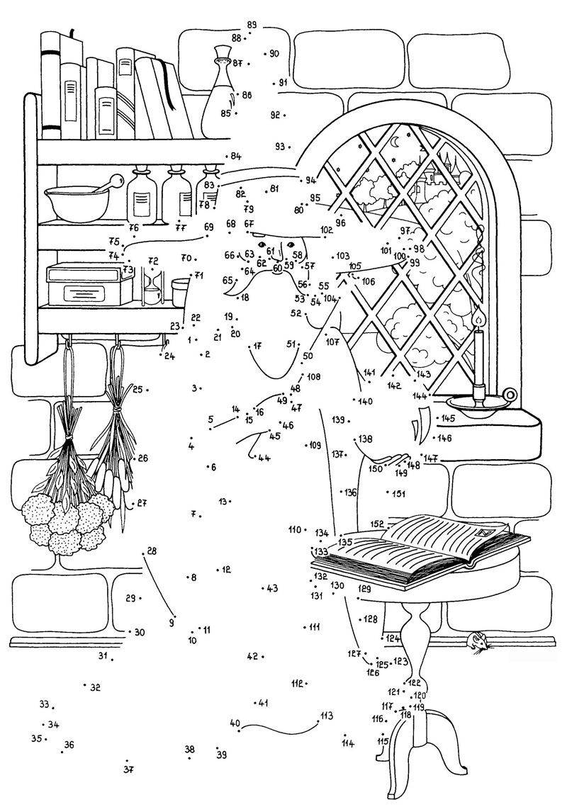 kostenlose malvorlage malen nach zahlen zauberer zum ausmalen. Black Bedroom Furniture Sets. Home Design Ideas
