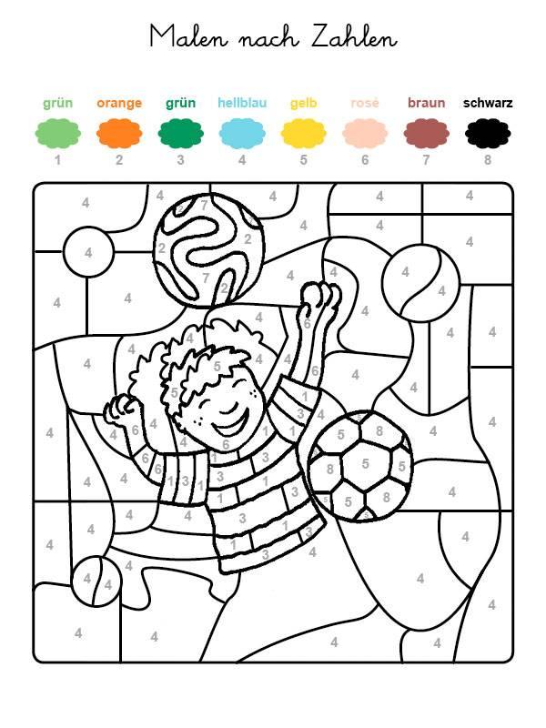 kostenlose malvorlage malen nach zahlen fußballspieler