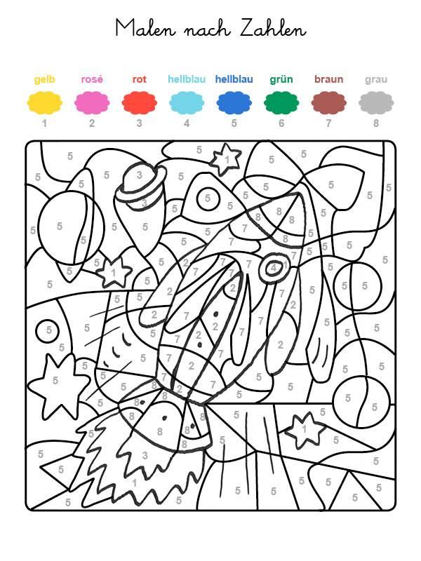Pin ausmalbild malen nach zahlen elefant mit on pinterest for Pinterest malen