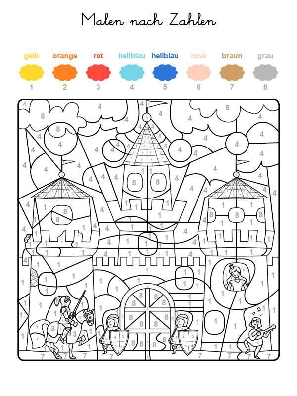 Malvorlage Malen Nach Zahlen Kinder Coloring And Malvorlagan