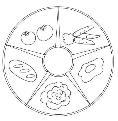 Kostenlose Malvorlage Mandalas Mandala Mit Essen Zum Ausmalen