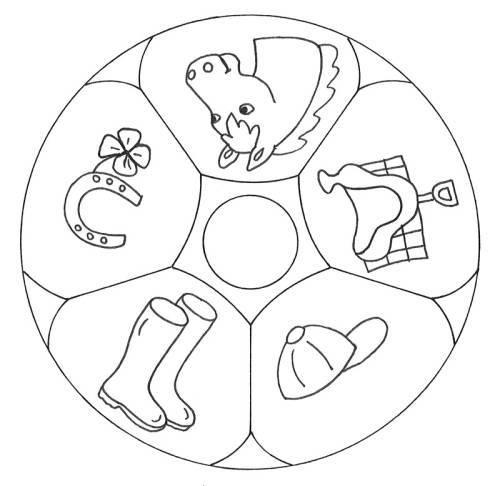 kostenlose malvorlage mandalas mandala reiten zum ausmalen