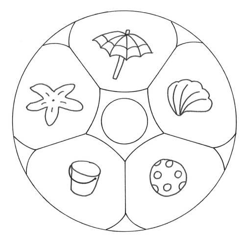 kostenlose malvorlage mandalas mandala strand zum ausmalen