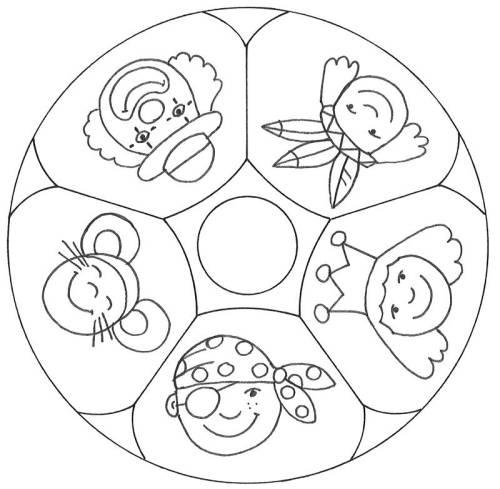 Kostenlose Malvorlage Mandalas: Mandala Verkleiden zum Ausmalen
