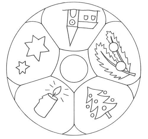kostenlose malvorlage mandalas mandala weihnachten zum