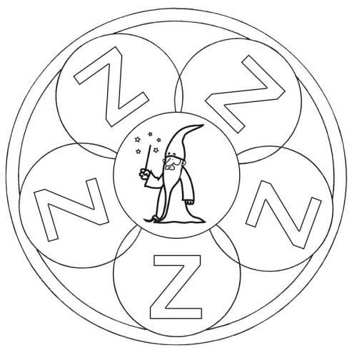 kostenlose malvorlage mandalas mandala buchstabe z zum