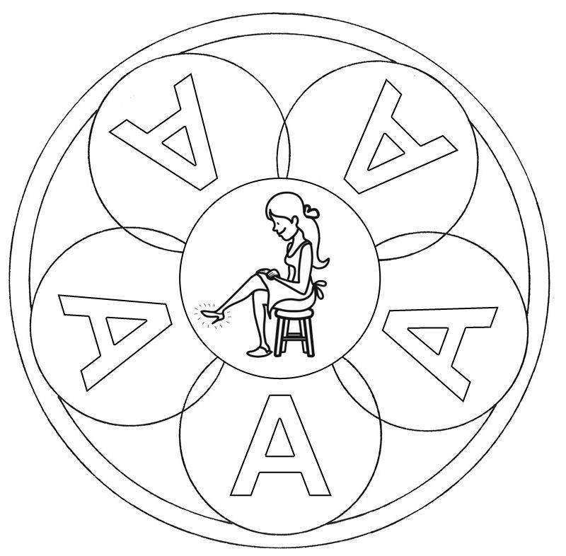 Kostenlose Malvorlage Mandalas Mandala Buchstabe A Zum Ausmalen Zum