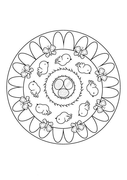 Ausmalbild Mandalas OsterMandala zum Ausmalen kostenlos ausdrucken