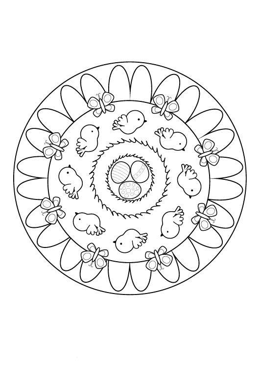 kostenlose malvorlage mandalas ostermandala zum ausmalen