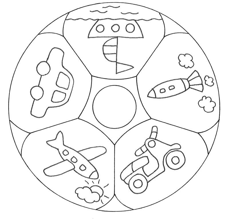 Ausmalbild Mandalas Mandala Spielzeug Kostenlos Ausdrucken
