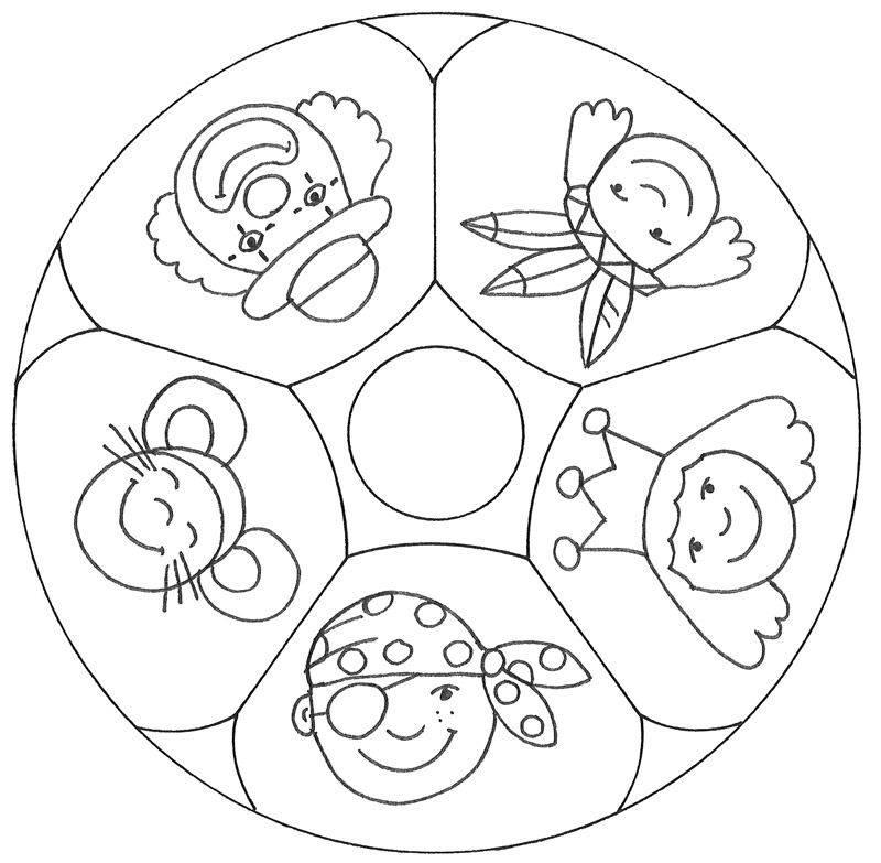 kostenlose malvorlage mandalas: mandala verkleiden zum