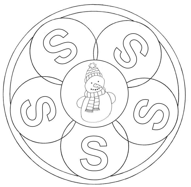 Ausmalbild Mandalas Mandala Buchstabe S Zum Ausmalen Kostenlos