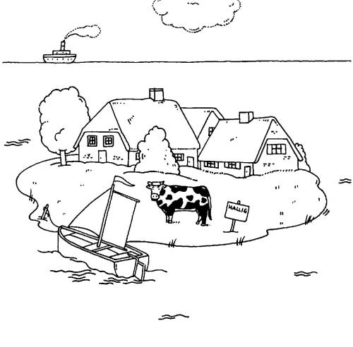 Kostenlose Malvorlage Menschen und ihr Zuhause: Bauernhof auf einer ...