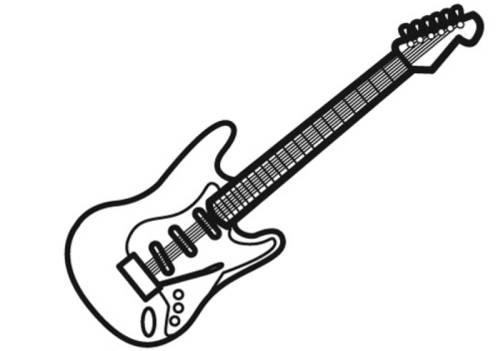 kostenlose malvorlage musik egitarre zum ausmalen