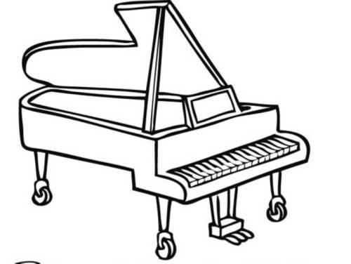 Kostenlose Malvorlage Musik Flügel Zum Ausmalen