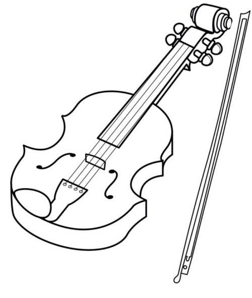kostenlose malvorlage musik geige zum ausmalen