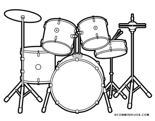 Kostenlose Malvorlage Musik Schlagzeug Zum Ausmalen