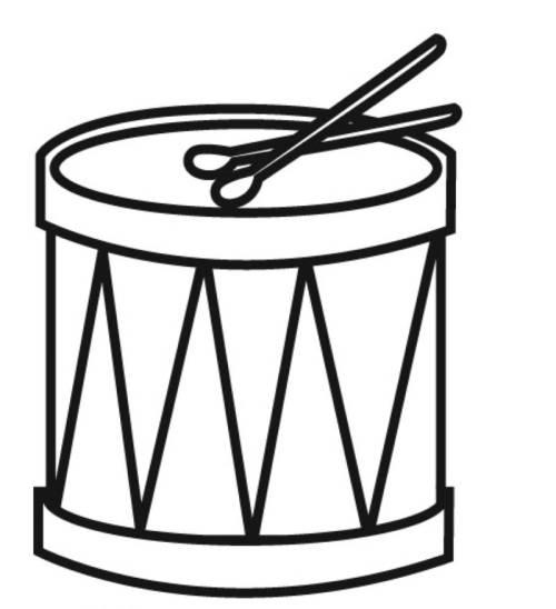 kostenlose malvorlage musik trommel zum ausmalen