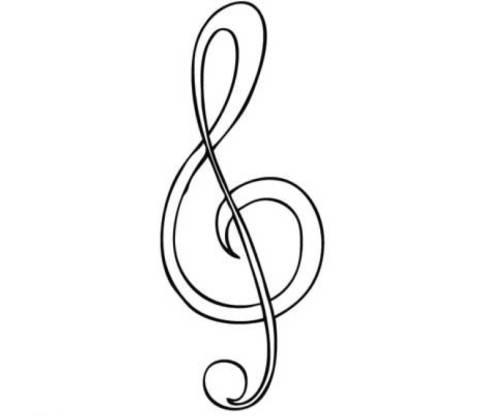 kostenlose malvorlage musik violinschlüssel zum ausmalen
