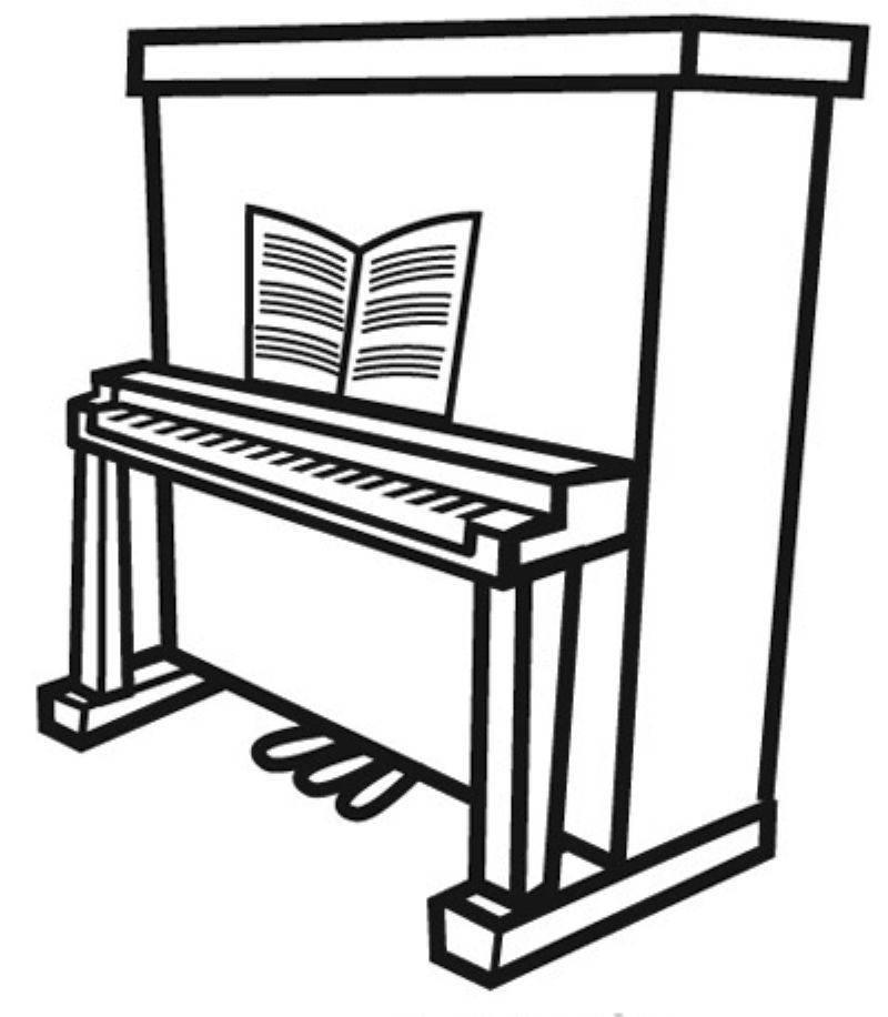 Piano zum Ausmalen