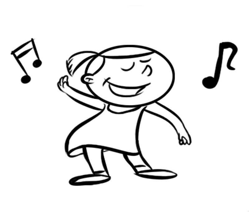 Ausmalbild Musik Sängerin Kostenlos Ausdrucken