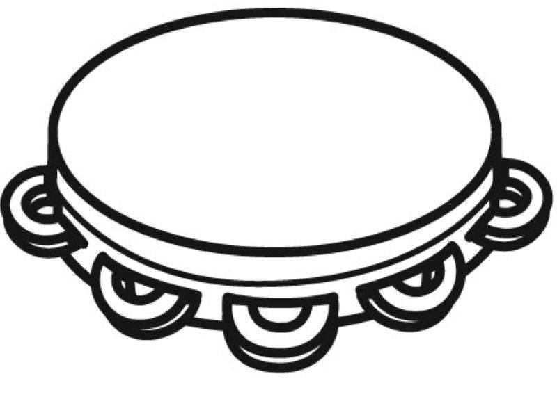 kostenlose malvorlage musik tamburin zum ausmalen