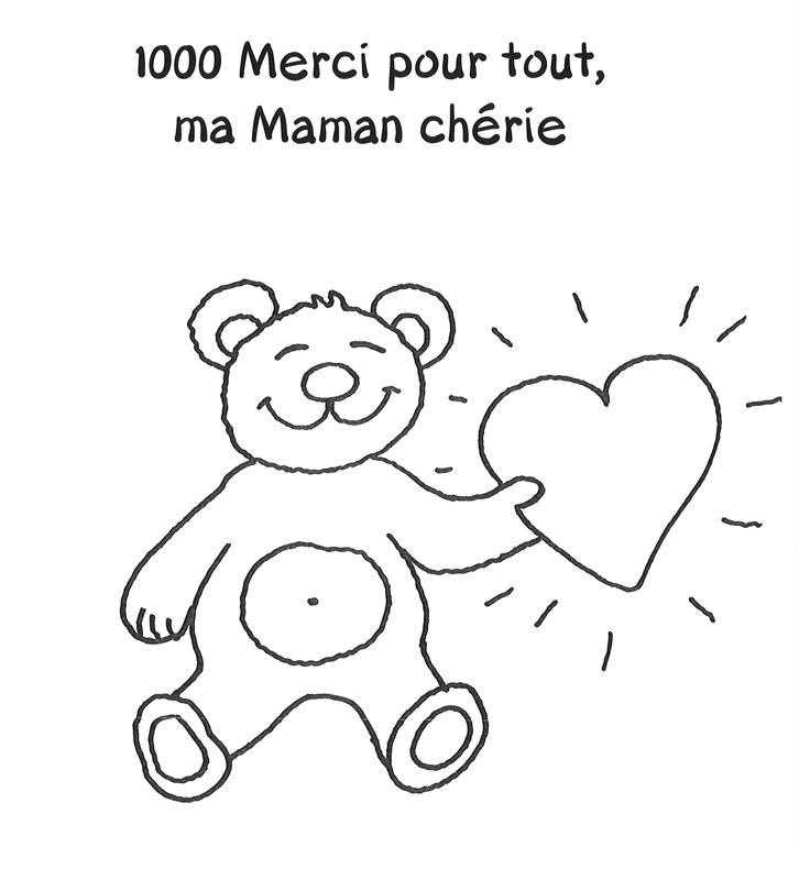 ausmalbild muttertag bärchen zum muttertag  französisch