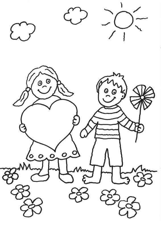 ausmalbild muttertag kinder mit herz kostenlos ausdrucken