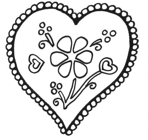 Kostenlose Malvorlage Muttertag Herz Mit Blume Zum Ausmalen