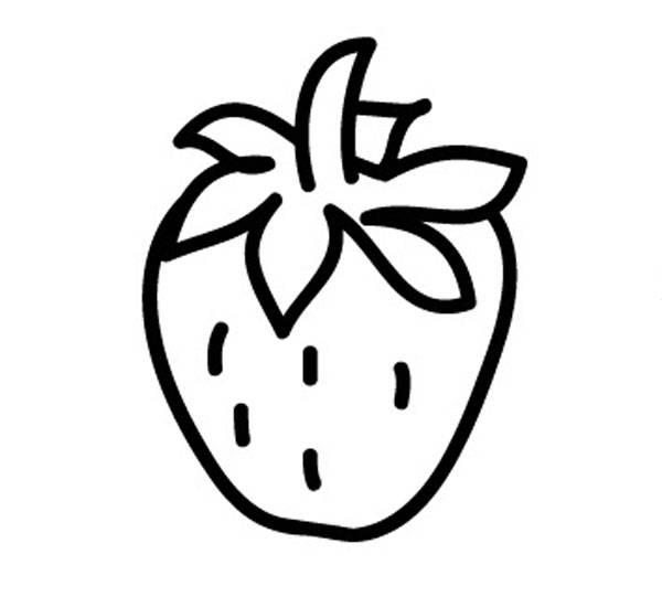 kostenlose malvorlage obst und gem se erdbeere zum ausmalen zum ausmalen. Black Bedroom Furniture Sets. Home Design Ideas