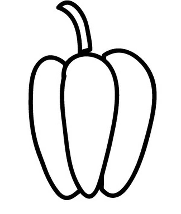 kostenlose malvorlage obst und gemüse: paprika zum