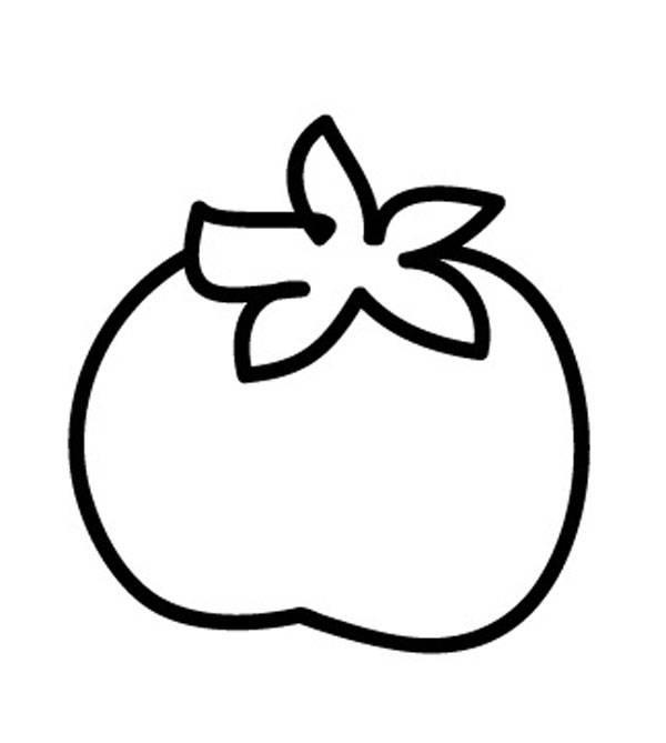 Tomate ausmalbild  Kostenlose Malvorlage Obst und Gemüse: Tomate zum Ausmalen zum ...