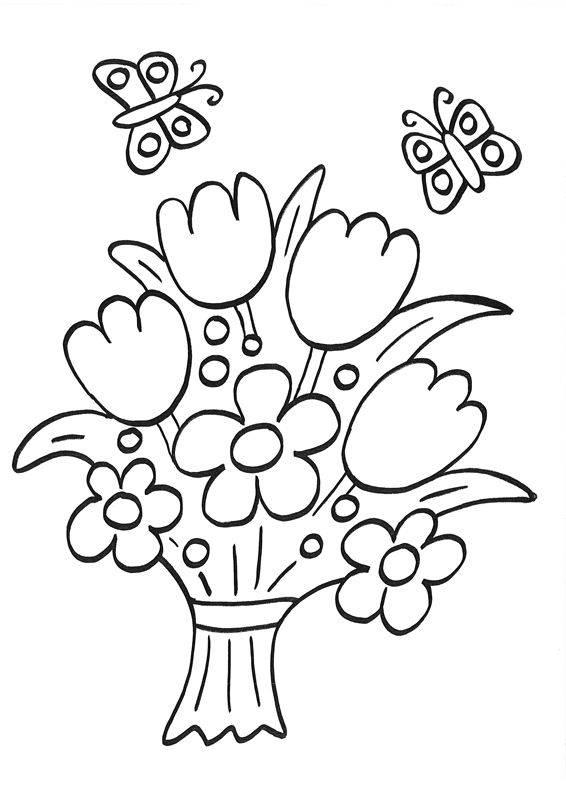 Ausmalbild Ostern Osterblumenstrauß Zum Ausmalen Kostenlos Ausdrucken