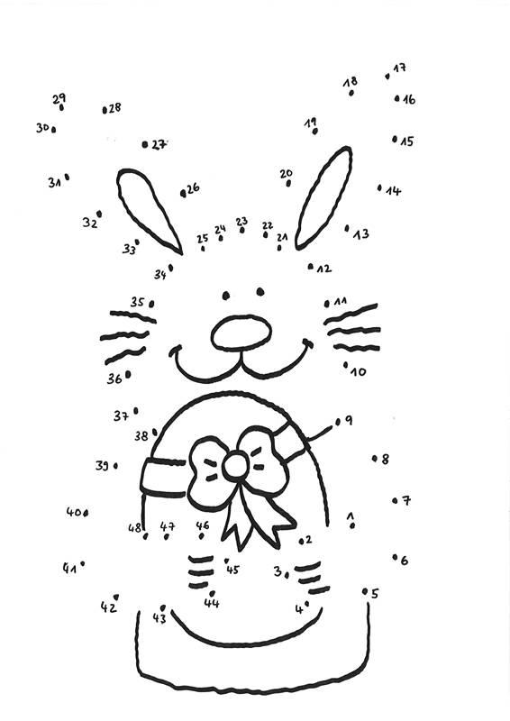 Ausmalbild Ostern: Osterhase mit Osterei kostenlos ausdrucken