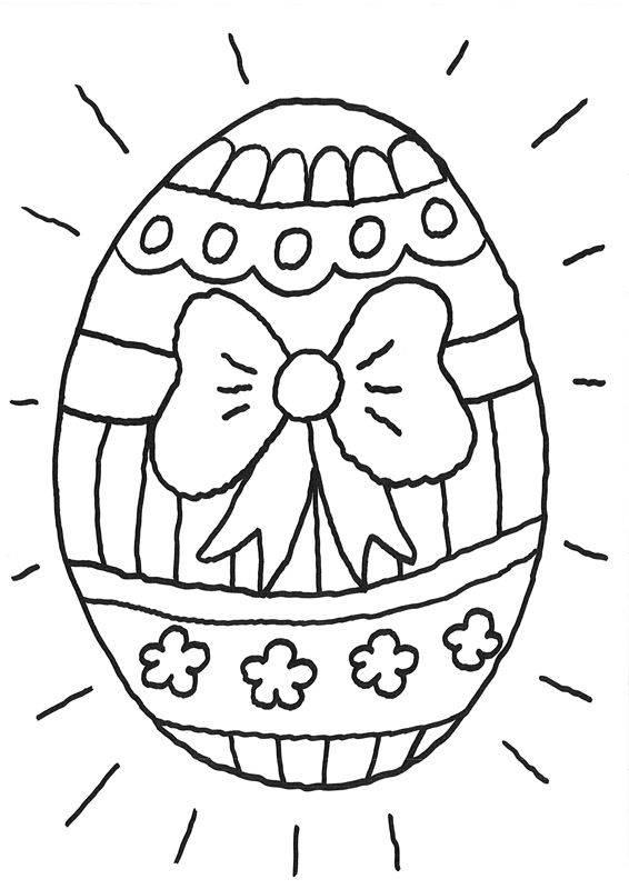Ausmalbild Ostern Riesiges Osterei Kostenlos Ausdrucken