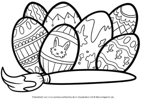Kostenlose Malvorlage Ostern Ostereier Bemalen Zum Ausmalen