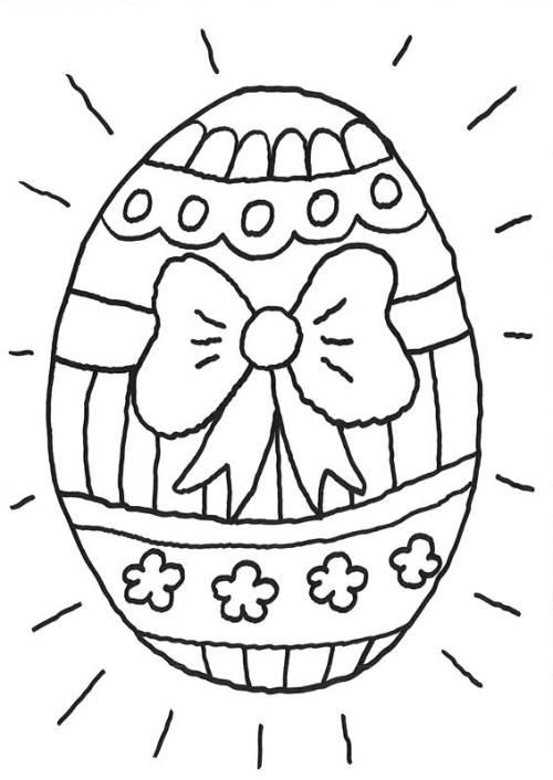 Kostenlose Malvorlage Ostern: Riesiges Osterei zum Ausmalen