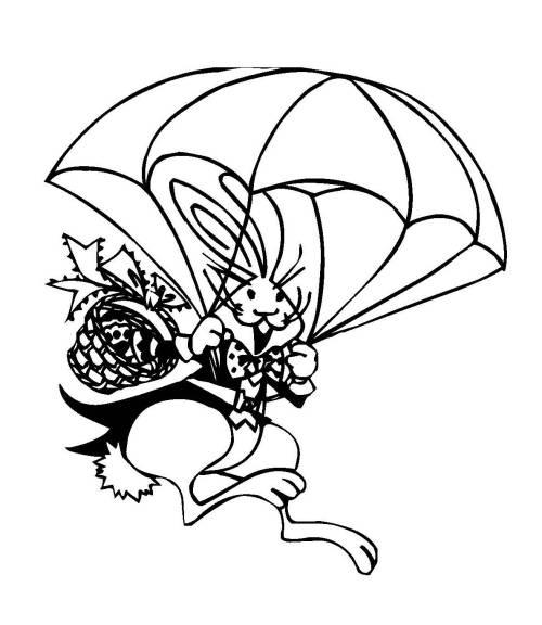 kostenlose malvorlage ostern osterhase mit fallschirm zum
