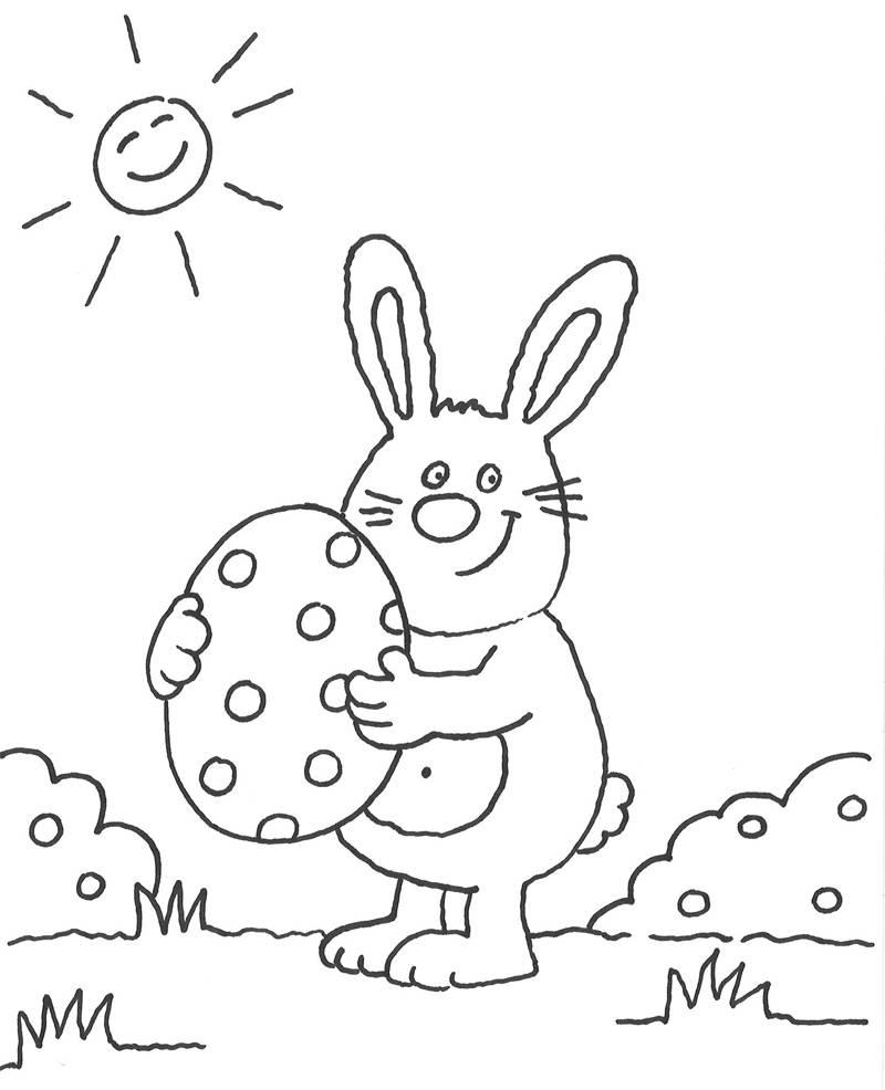 Ausmalbild Ostern: Osterhase ausmalen kostenlos ausdrucken