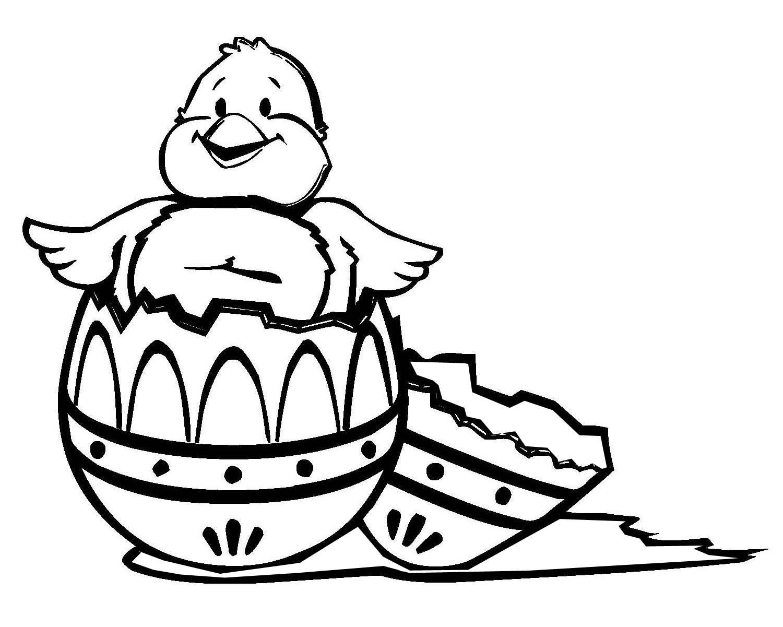 kostenlose malvorlage ostern: osterküken zum ausmalen
