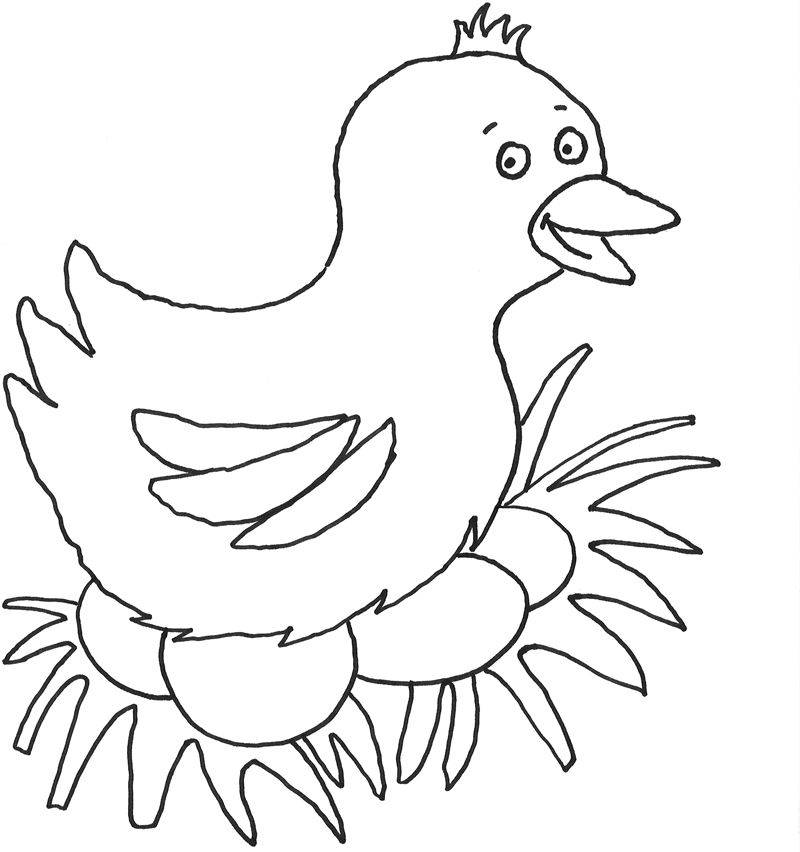 kostenlose malvorlage ostern vogel beim brüten zum ausmalen
