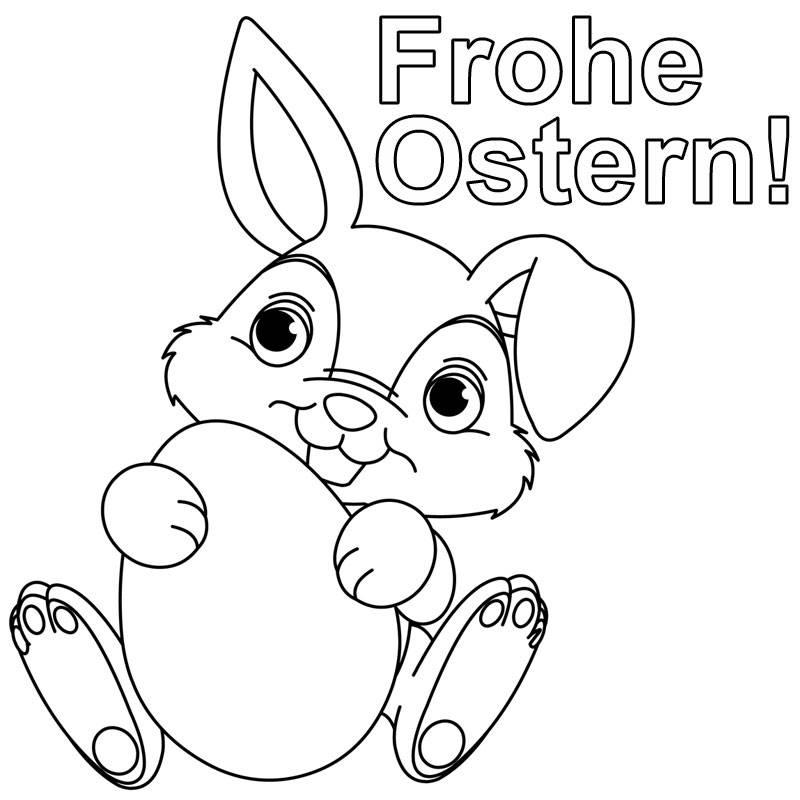 Ausmalbild Ostern Häschen Wünscht Frohe Ostern Kostenlos Ausdrucken
