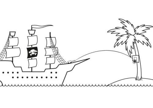 kostenlose malvorlage piraten piratenschiff ausmalen zum